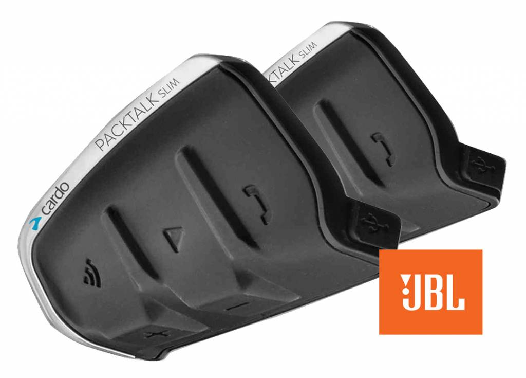 Cardo packtalk slim JBL duo, gratis montage in uw helm