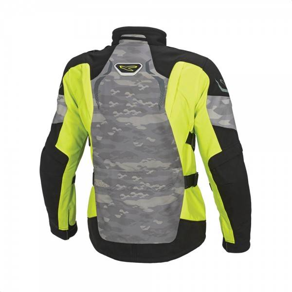 Macna mountain camouflage/neon/black, maat L, OUTLET