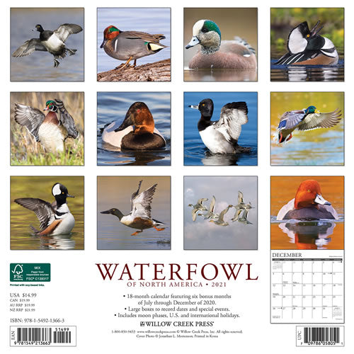 Waterfowl 2021 Wall Calendar