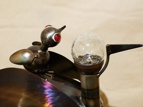 Handcrafted Heavy Gauge Metal Mother And Baby Loon Yard Art