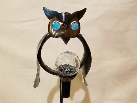 Handcrafted Heavy Gauge Metal Owl Yard Art