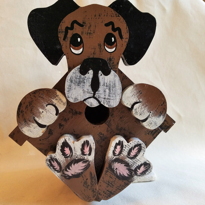 Handcrafted Bird House Dog Designed
