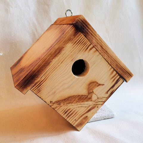 Handcrafted Bird House Duck Design