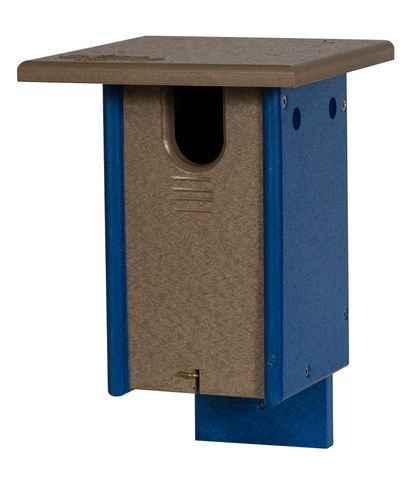 Blue Bird House - Sparrow Resistant - Blue