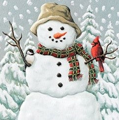 Pumpernickel Press Happy Snowman Holiday Card 10/Box