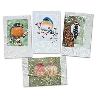 Pumpernickel Press Winter Songbirds Assorted Holiday/Christmas Cards 20/Box