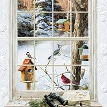 Pumpernickel Press Birdwatcher's Window Holiday Card 16/Box