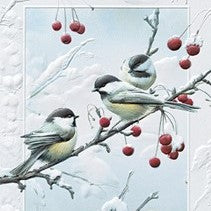 Pumpernickel Press Cheeky Chickadees Christmas Card 16/Box