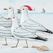 Pumpernickel Press Marching Gulls Christmas Card 16/Box