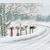 Pumpernickel Press Rural Route II Holiday Card 16/Box