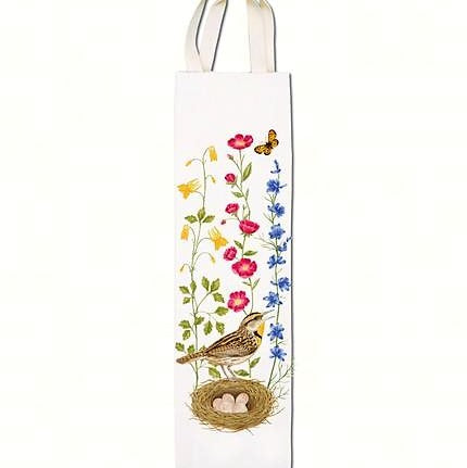 Alice's Cottage 3.5 IN X 13.5 IN Meadowlark Bottle Caddy