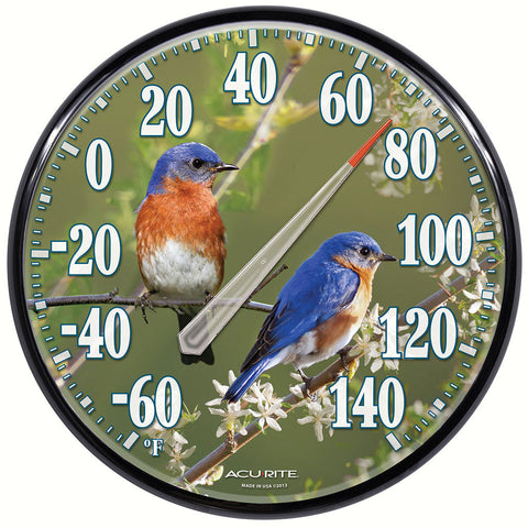 Accurite 12.5 IN Bluebird Indoor/Outdoor Thermometer