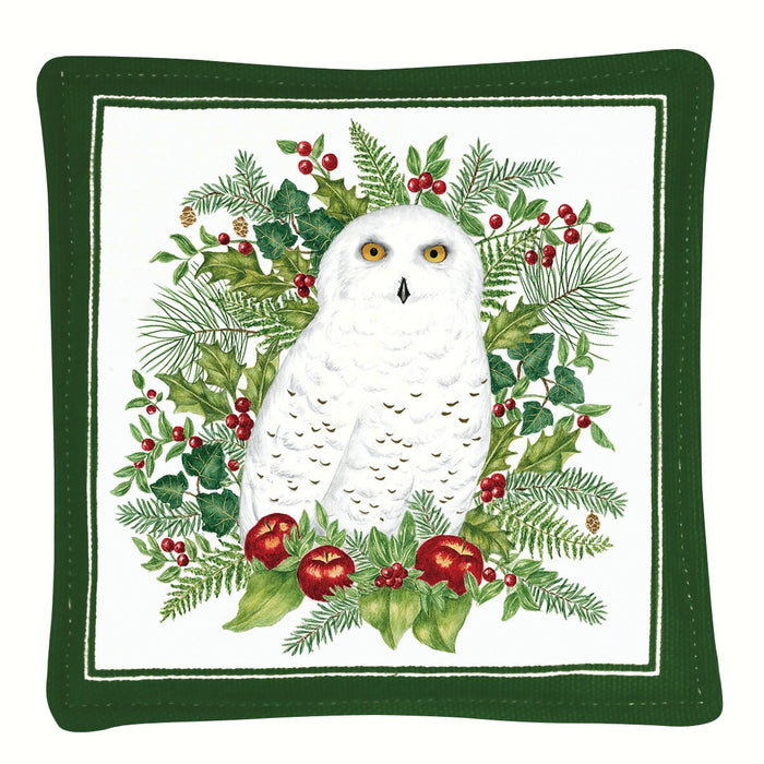 Alice's Cottage 5 IN x 5 IN Snowy Owl Spice Scented Mug Mat
