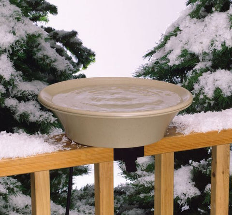 EZ-Tilt Heated Bird Bath for Deck or Pole