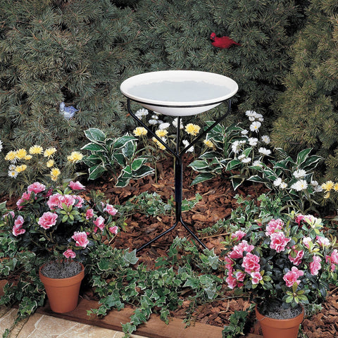 Allied Precision 20 IN Bird Bath with Metal Stand