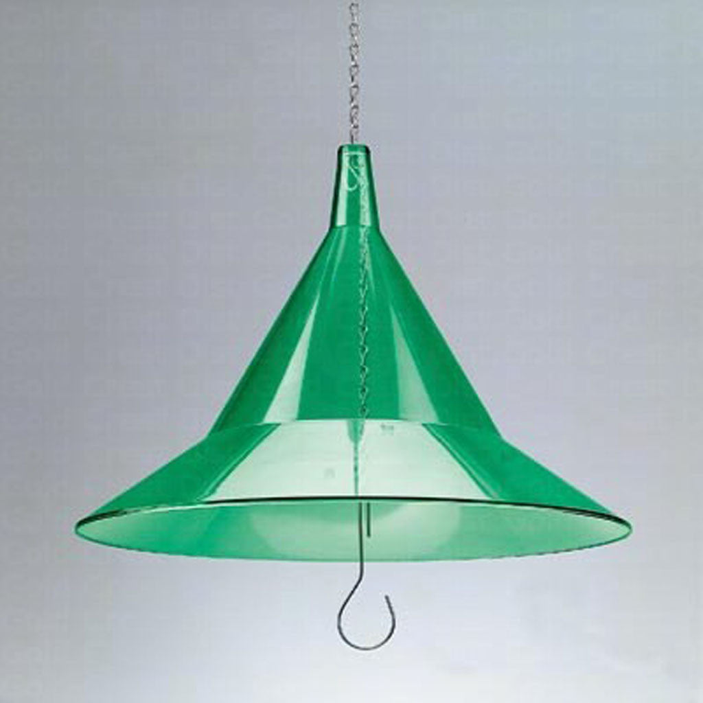 Arundale Mandarin 17 IN Green Clear Recycled Plexiglass Dome Hanging Baffle