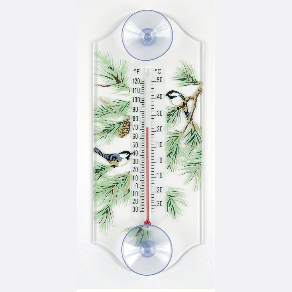 Aspects Chickadee/Pine Window Thermometer