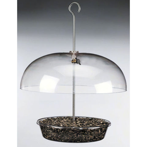 Aspects Vista Dome 12 IN Adjustable Dome 8.5 IN Tray 1.25 Qt Bird Feeder