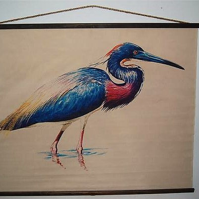 Design Legacy Great Blue Heron Wall Hanging Large size 4.5' x 5.5'
