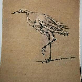 Design Legacy Crane Wall Hanging, Large size 4' x 5.75'