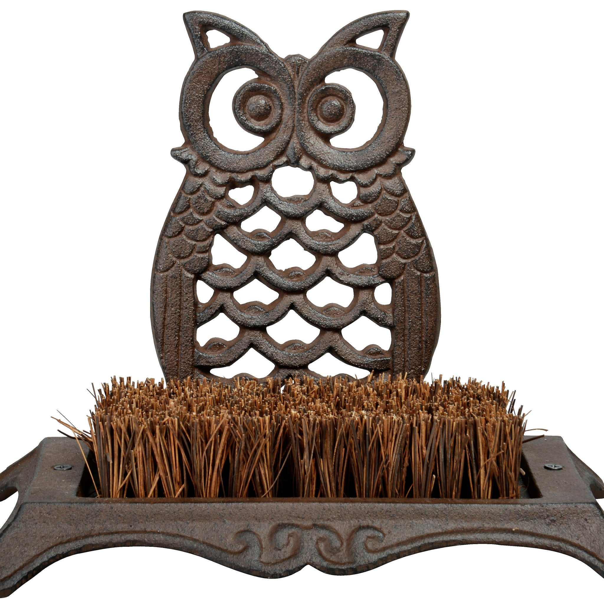 Antique Brown Owl Boot Brush