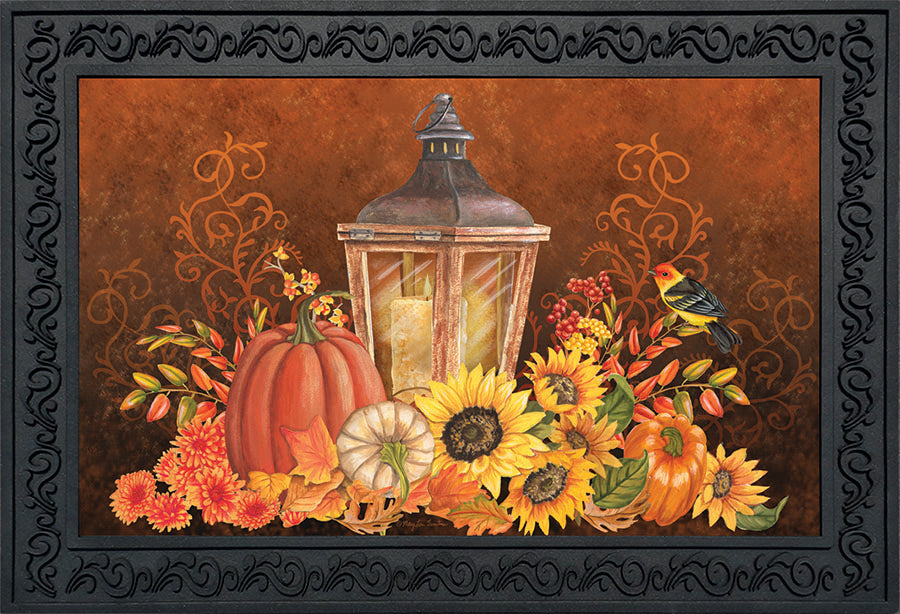 18 IN x 30 IN Fall Lantern Doormat