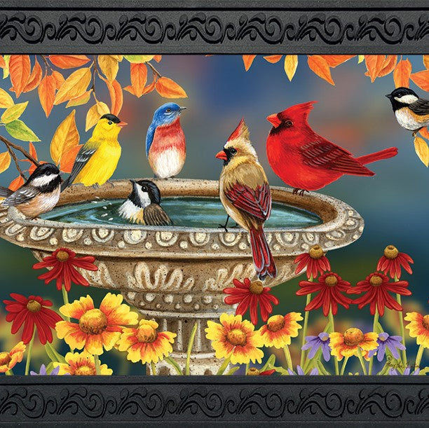 18 IN x 30 IN Fall Birdbath Doormat