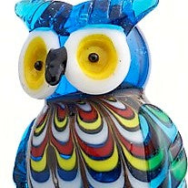 Venetian Owl Glass Bottle Stopper