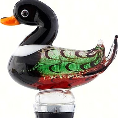 Mallard Duck Glass Bottle Stopper