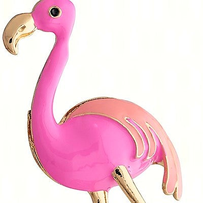 Flamingo Enamel Bottle Stopper