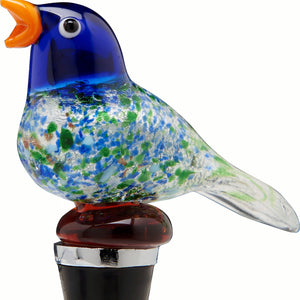 Bird Glass Bottle Stopper