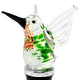 Ruby Throated Hummingbird Bottle Stopper