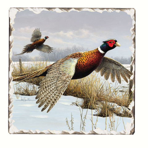 Game Birds Tumbled Tile Trivet