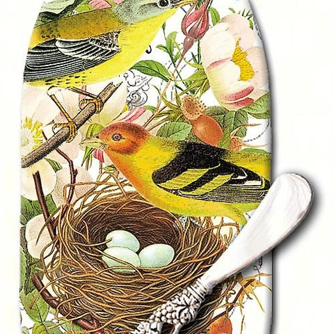 Botanical Birds Cheese Server
