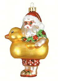 Santa's Ducky Ornament