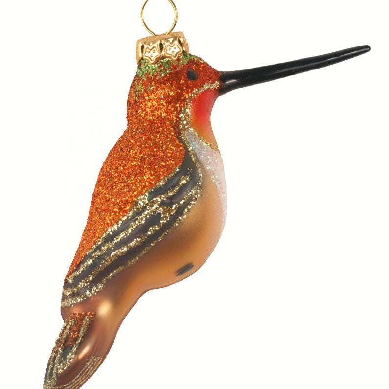 Rufous Hummingbird Ornament