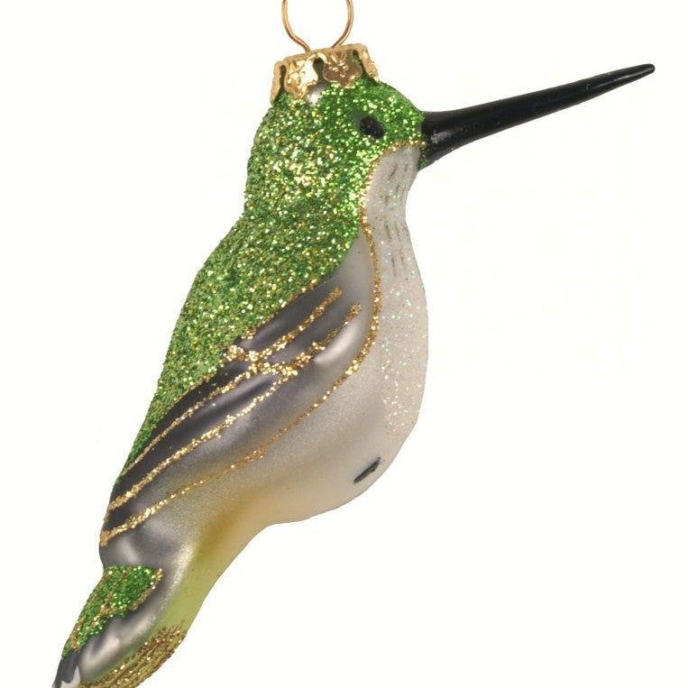 Female Ruby-Throated Hummingbird Ornament