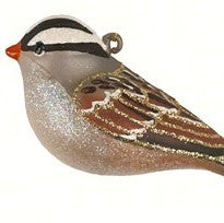 White Crowned Sparrow Ornament