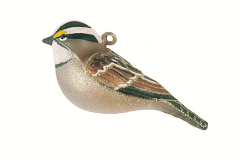 White Throated Sparrow Ornament