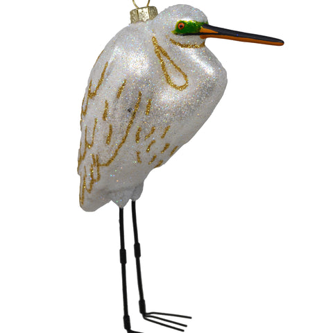 White Egret Ornament