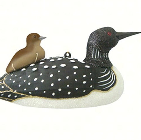 Loon With Baby Ornament