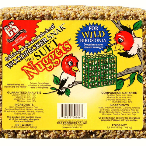 Woodpecker Snak with Suet Nuggets 2.4 LBS