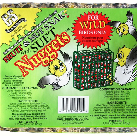 Fruit And Nut Snak with Suet Nuggets 2.25 LBS
