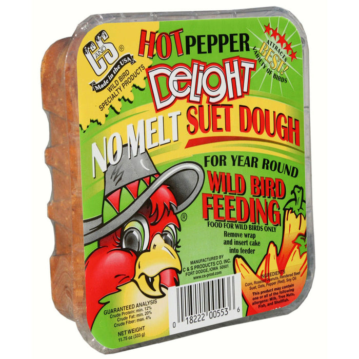C&S Products 13.5 OZ Hot Pepper Delight No Melt Suet Dough