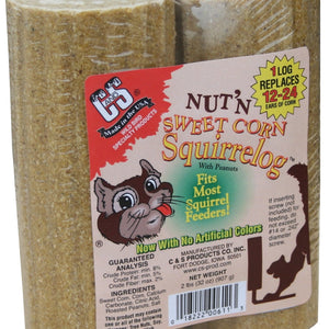 32 OZ Nut & Sweet Corn Squirrel Log