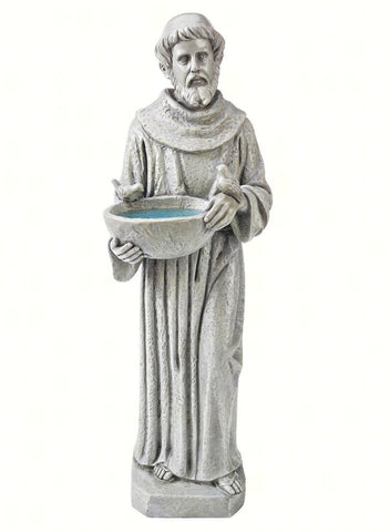 Design Toscano Medium St. Francis Nature's Nurturer Statue