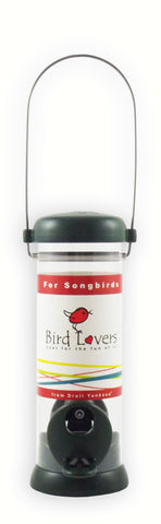 8 IN Green Bird Lovers Seed Feeder