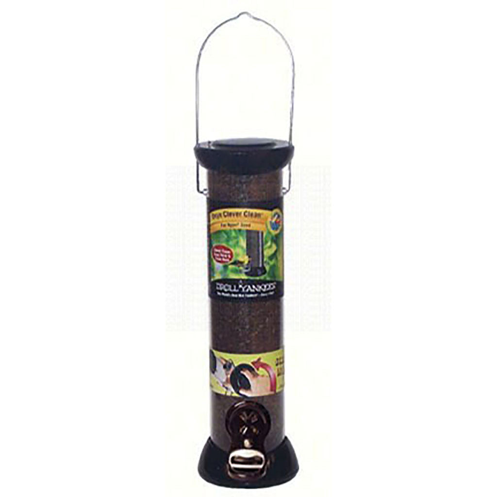 Droll Yankee Onyx 2.75 IN x 12 IN Tube 2 port Nyjer Seed Feeder w/removable Base