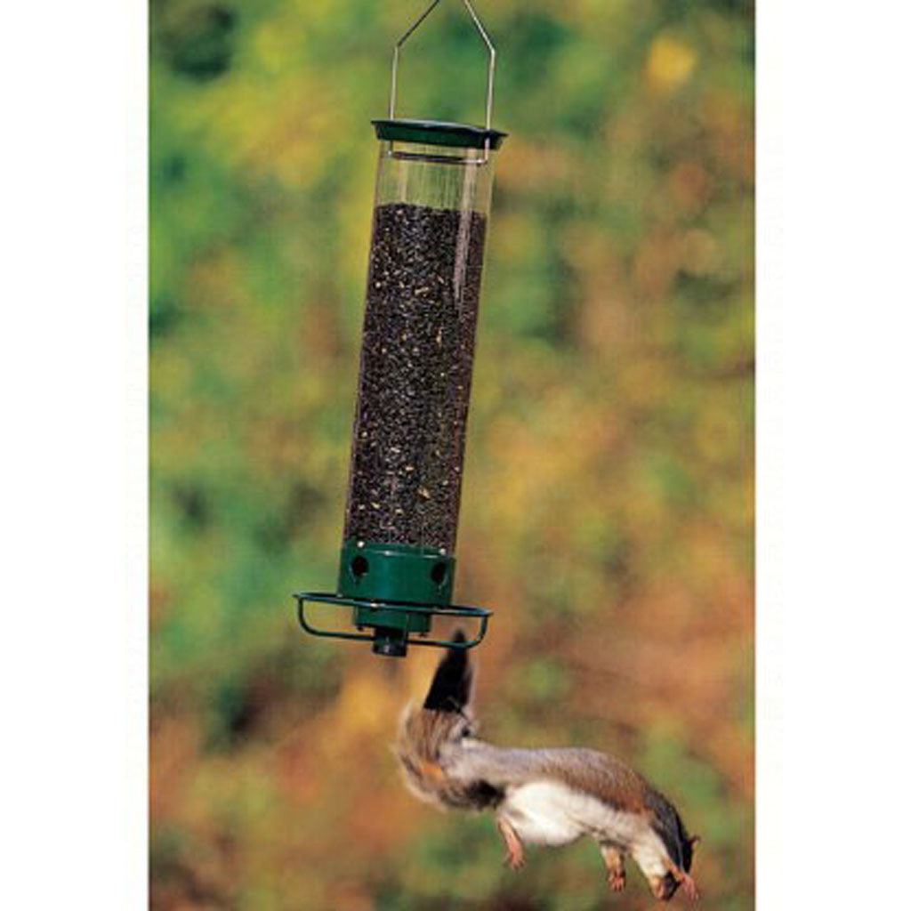 21 IN Droll Yankees Flipper 4 Port Individual Weight Sensitive Perches Tube Bird Feeder