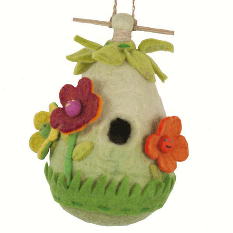 Friendly Flower Felt Birdhouse